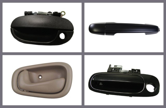Top car door handle