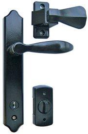 Ideal Security SK1215BLP1 Deluxe Storm Door Handle Set with Deadbolt, Black