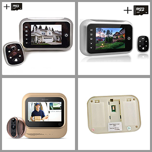 Laview Wireless Video Doorbell Wi Fi Door Bell Camera Peephole W LED Touch Scree