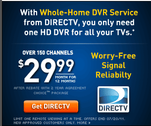 DIRECTV REBATE OFFER: $500 Savings+FREE HD+FREE Movie Channels ...