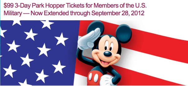 DisneyLAND Military Discount: $99 Park Hopper Ticket Deal