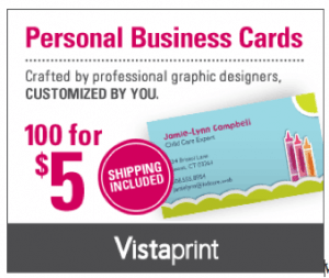 HOT* 500 Premium Vistaprint Business Cards Only $5 Shipped - Slick ...