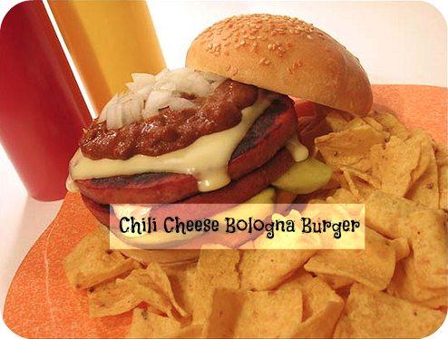 Chili Cheese Bologna Burger