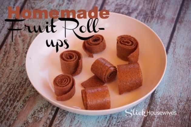 homemade fruit rollups