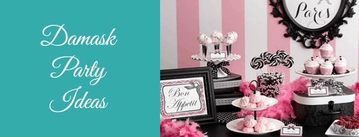 damask Party Ideas