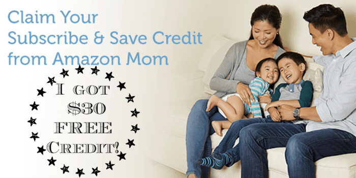 Amazon Mom Members: Possible $30 Credit Toward Your Next Subscribe & Save Order