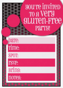 gluten free party invitations