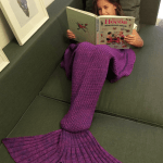Knitted Mermaid Tail Design Blanket for $4.70 Shipped