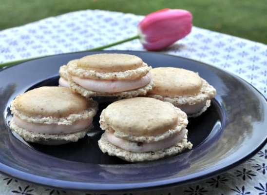 Hazelnut Macarons with Strawberry Filling