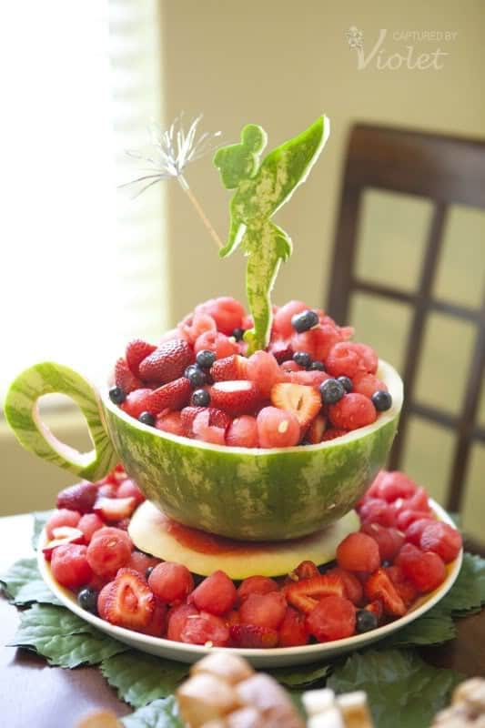 Watermelon Cup with Tinkerbell