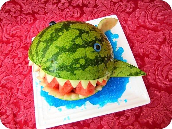 Watermelon Shark Carving