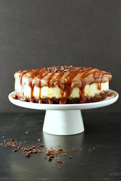 Instant Pot Chocolate Caramel Cheesecake
