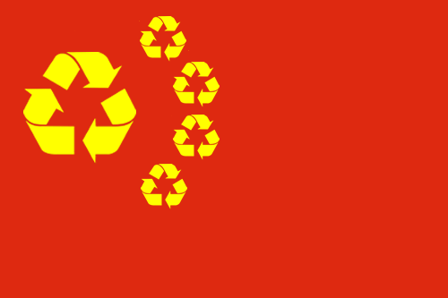 China Recycling Flag New