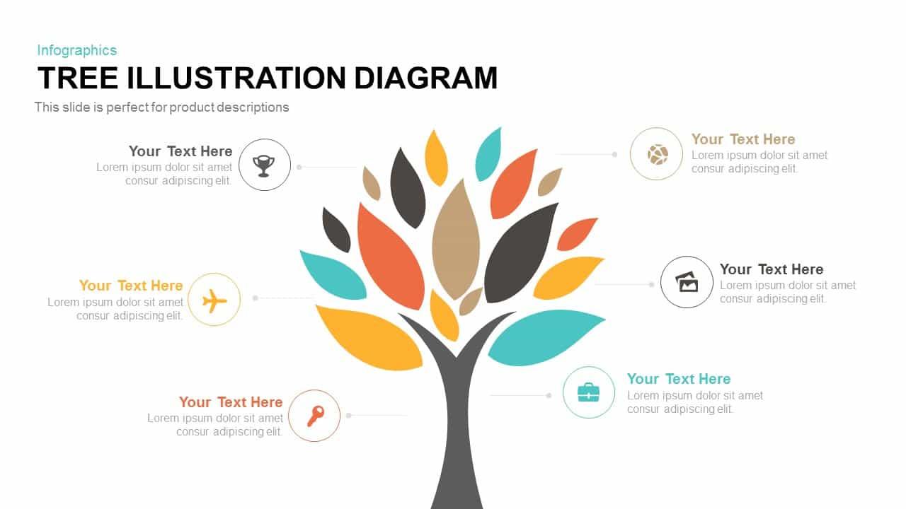 Tree Illustration Diagram Template For PowerPoint Amp Keynote Slidebazaar