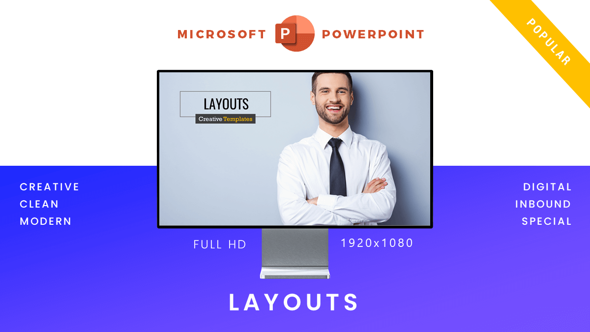 Layout presentation template cover