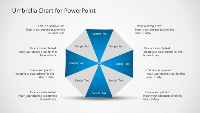 Umbrella Chart Diagram For Powerpoint Slidemodel