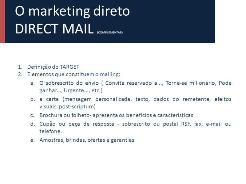 Resultado de imagem para serviço DIRECT MAIL