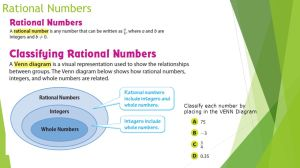 Integers, Rational Numbers and Models Review  ppt video