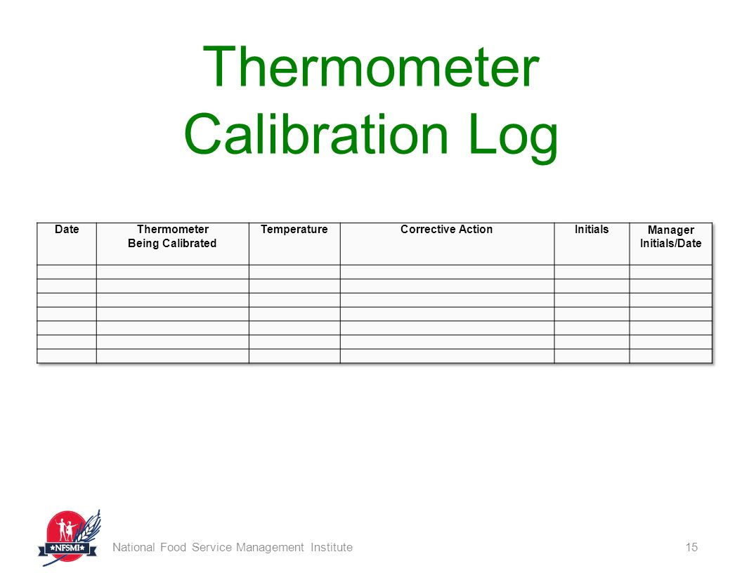 Download Thermometer Calibration Log