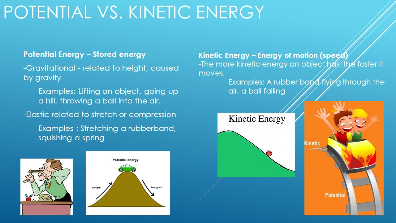 Potential Vs Kinetic Energy Examples