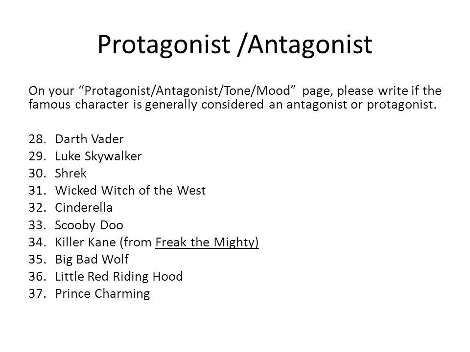 Protagonist Vs Antagonist Worksheet