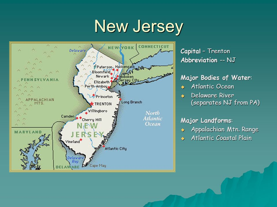 Map New Jersey And Connecticut