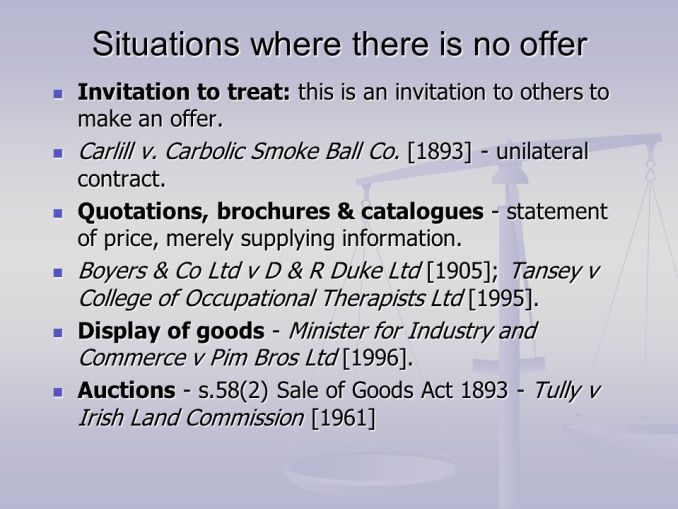 Difference between offer and invitation to treat in law business law invitation to treat may made by displaying goods in windows stopboris Choice Image
