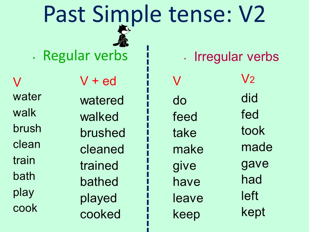 Wash Simple Present Tense