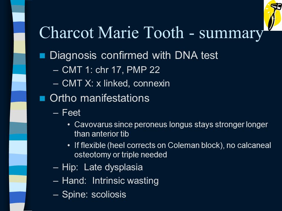 Inverted Tooth Charcot Heel Marie