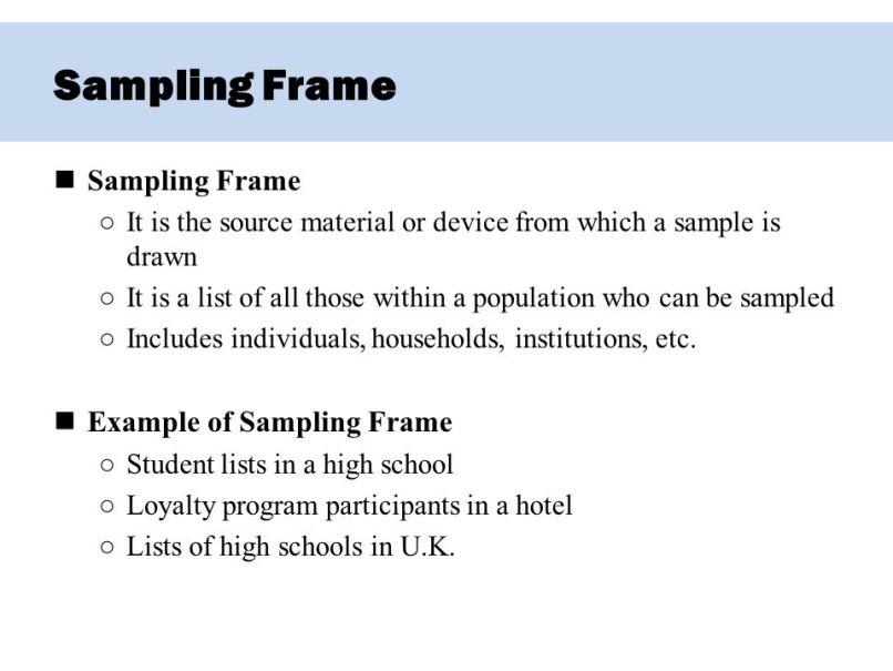 sampling frame example | Frameswalls.org