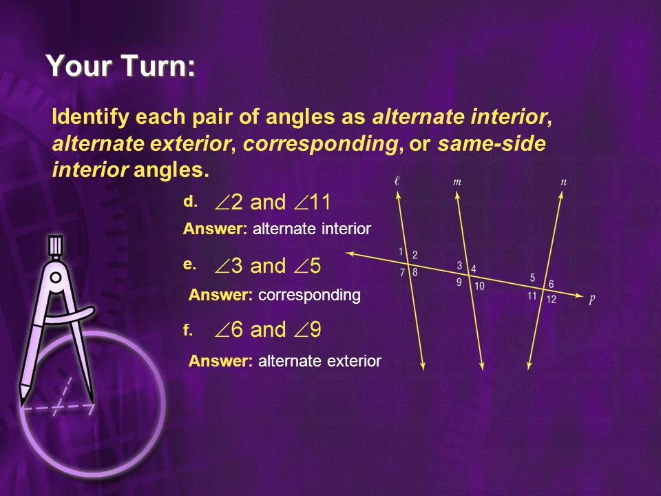 Angles Formed By Transversals Ppt Video Online Download