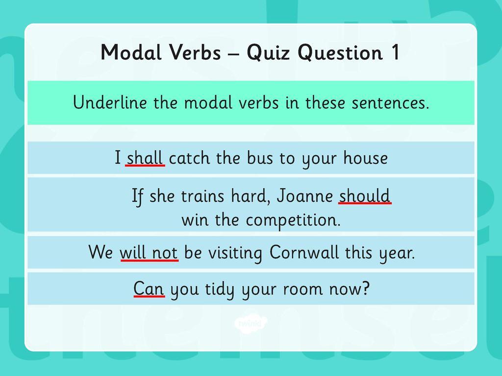 Year 6 Grammar Revision Modal Verbs