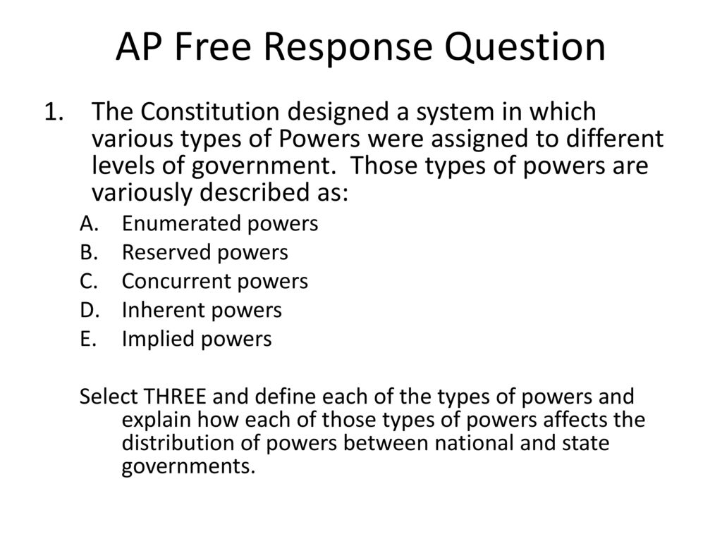 Ap Government Federalism