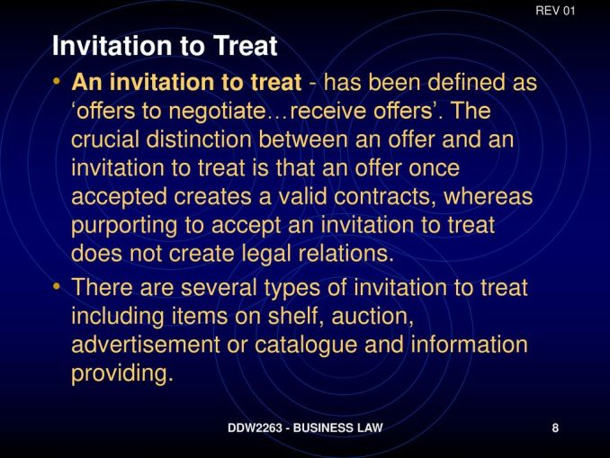Define invitation to offer newsinvitation rev 01 invitation to treat stopboris Images