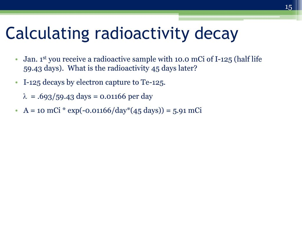 Radiochemistry Webinars Nuclear Radiation Safety