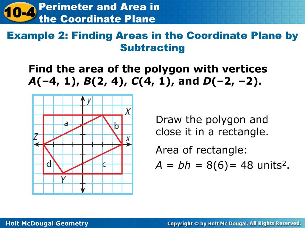 10 4 Perimeter And Area In The Coordinate Plane Warm Up