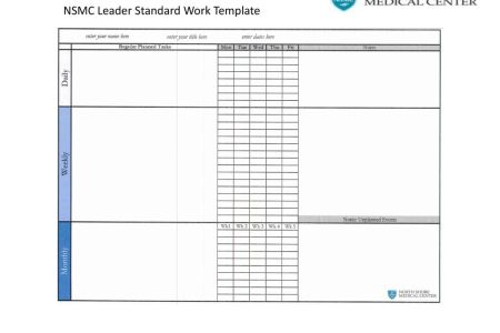 amazing leader standard work template vignette how to write a