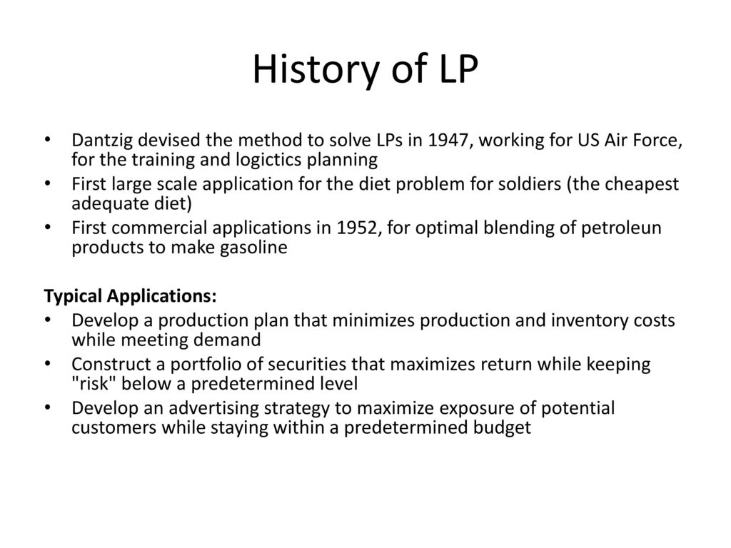 Class 10 Introduction To Linear Programming