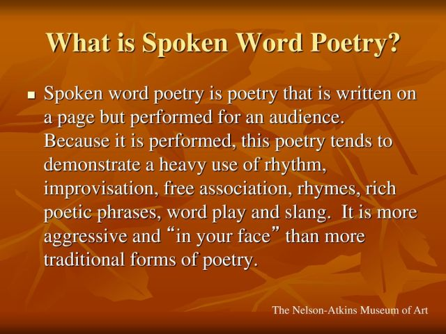What is Spoken Word Poetry? - ppt download