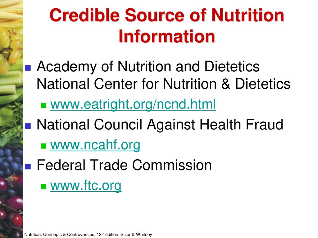 Credible Sources Of Nutritional Information Besto Blog