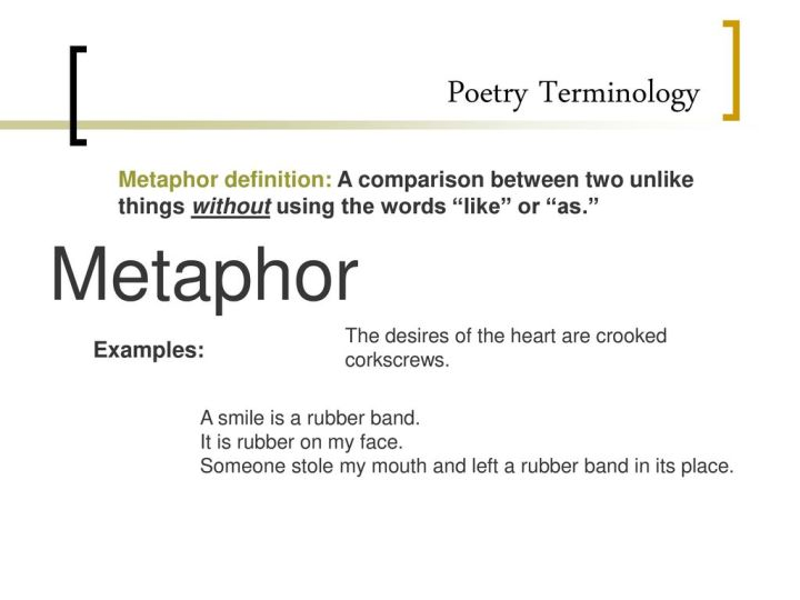 Examples Of Metaphors In Poetry Images Resume Cover Letter Examples