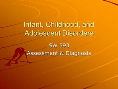 CMHS National Evaluation Data Profile Report Cuyahoga Tapestry     Infant  Childhood  and Adolescent Disorders SW 593 Assessment   Diagnosis