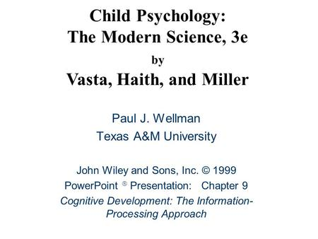 CHAPTER 8 MEMORY AND INFORMATION PROCESSING Ppt Download