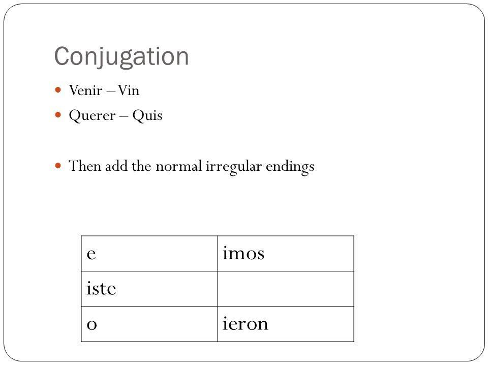 Traer Conjugation Chart