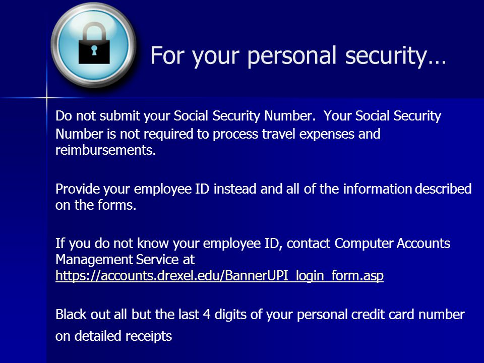 Personal Security Number Jobcentre