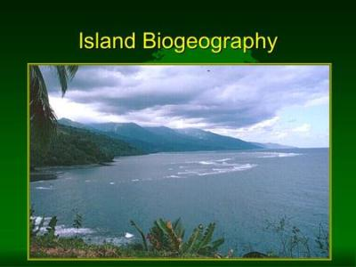 The Theory of Island Biogeography Robert MacArthur & E.O ...