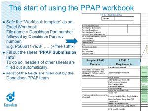 Donaldson EMEA Supplier Quality Assurance  ppt download