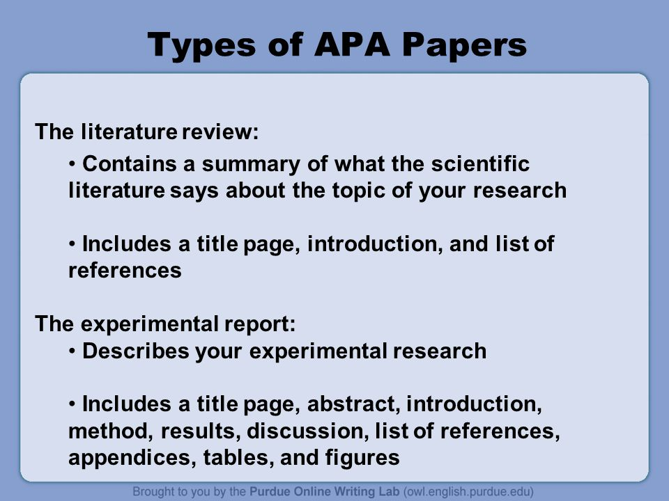 types of scientific research papers
