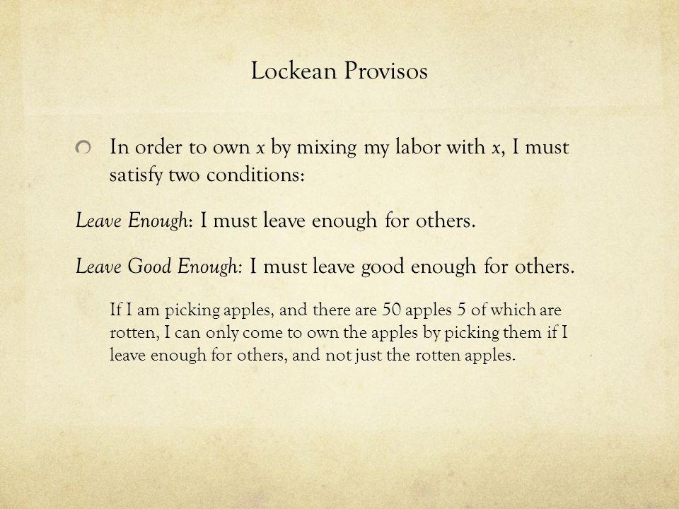 Image result for locke proviso