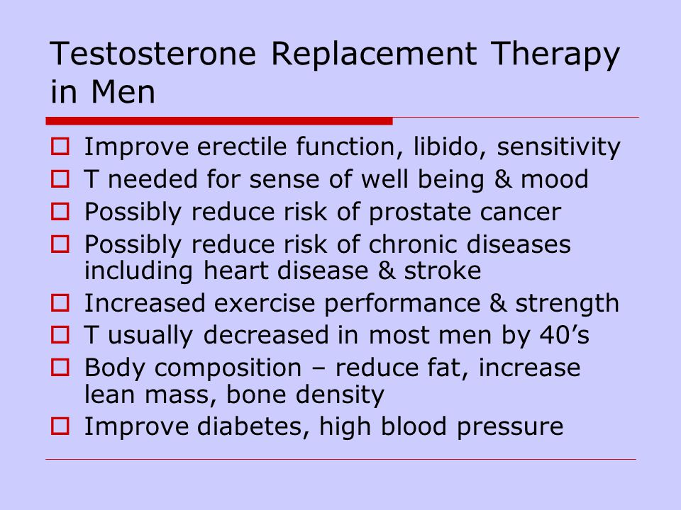 Testosterone Replacement Therapy And High Blood Pressure